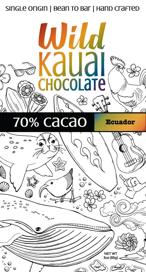 Wild Kauai Chocolate 70% Cacao Bar