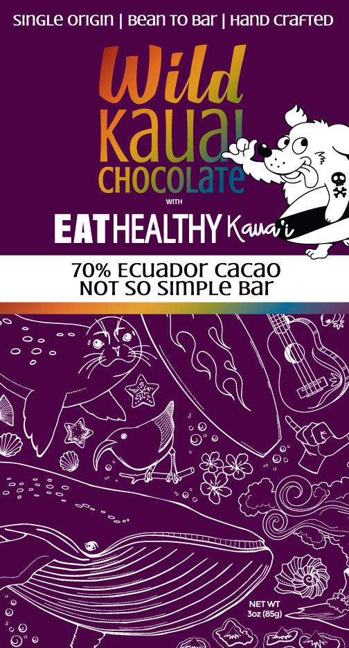 Wild Kauai Chocolate 70% Cacao Eat Healthy Kauai Not So Simple Acai Bowl Bar